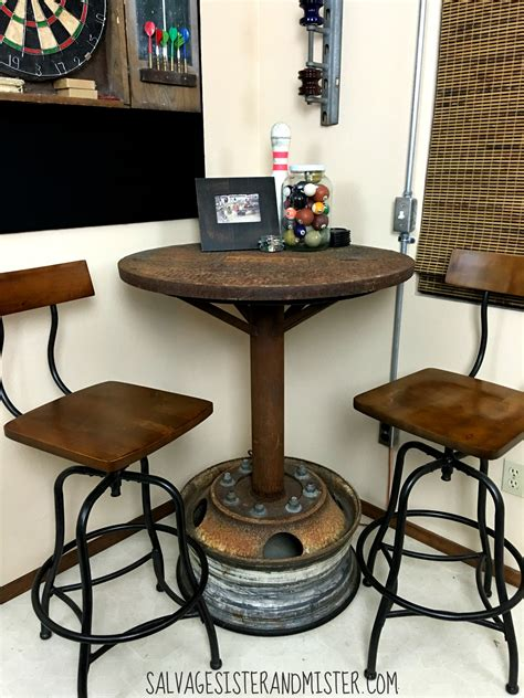 rooms to go pub table industrial bar table room orc salvage and