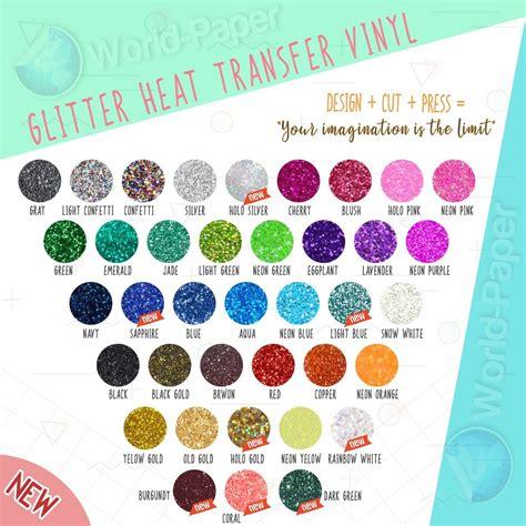 dye printable vinyl color glitter heat transfer vinyl htv t shirt heat press