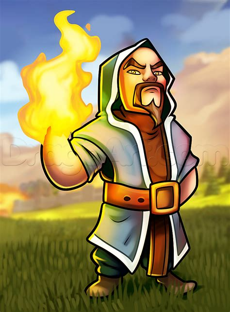 free online face shape wizard how to draw wizard from clash of clans step by step