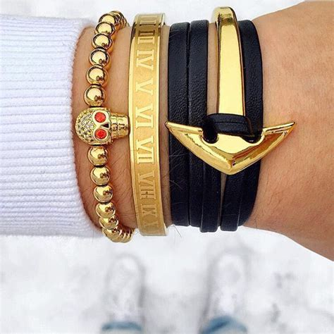 Accessories Gold Bracelet 18cm stainless steel numeral bangle bracelet for accessories gold cuff bangle