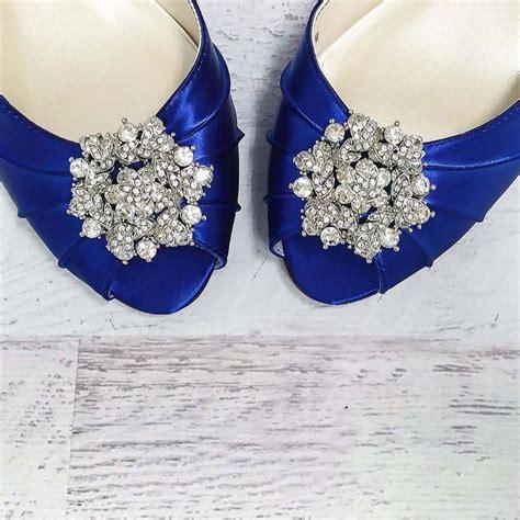 Wedding Shoes Kitten Heel With Peep Toe by Royal Blue Kitten Heel Peep Toe Wedding Shoes With Classic