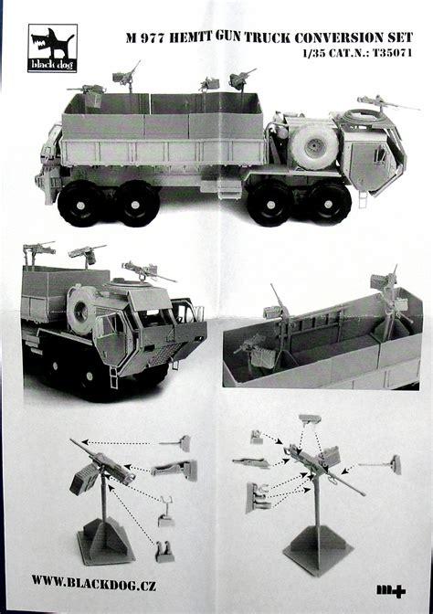 Italeri 6510s 1 35 Hemtt Gun Truck m977 hemtt gun truck for italeri black t35071