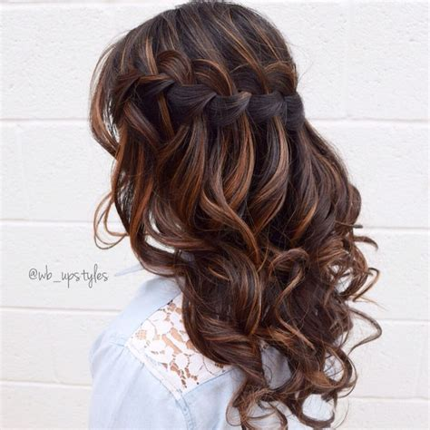 Waterfall Braid Hairstyles by 25 Best Ideas About Waterfall Braid Prom On
