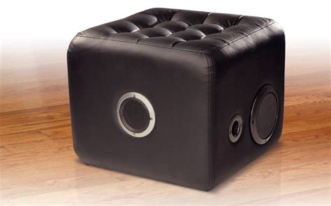 Cushy Speaker Console by Sit On This Ottoman With A Speaker Inside