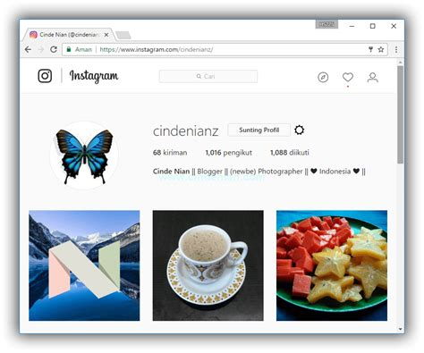 cara membuat instagram di web cara upload foto ke instagram melalui web browser pc