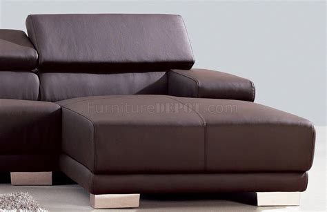 Sofa Melody melody sectional sofa in chocolate leather by whiteline imports