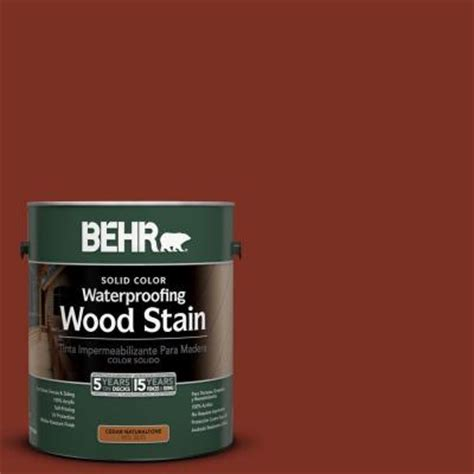 behr 1 gal 2330 redwood solid color wood stain 233001 the home depot
