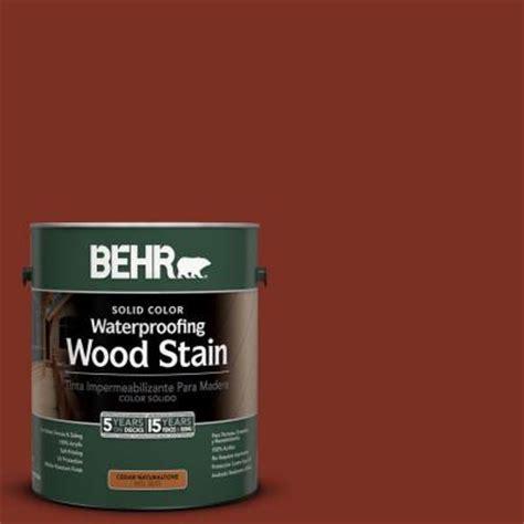 home depot paint color formulas behr 1 gal 2330 redwood solid color wood stain 233001