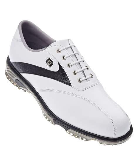 footjoy mens dryjoys tour golf shoes white black lizard 2014