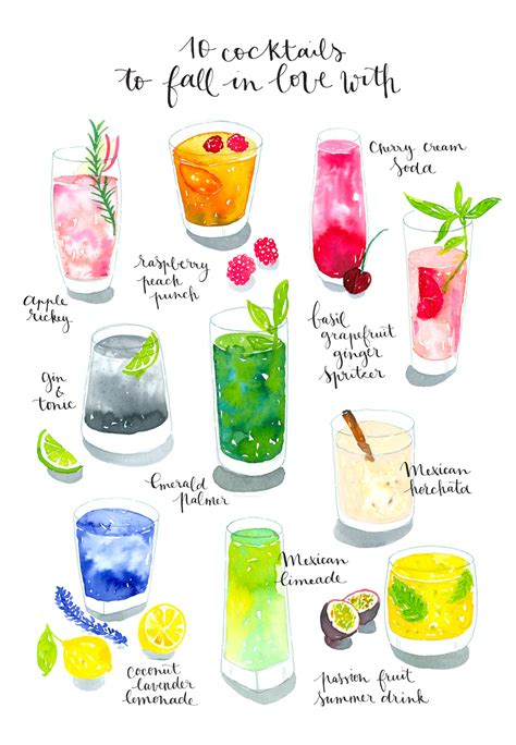 watercolor cocktail new work watercolor cocktails nathalie ouederni