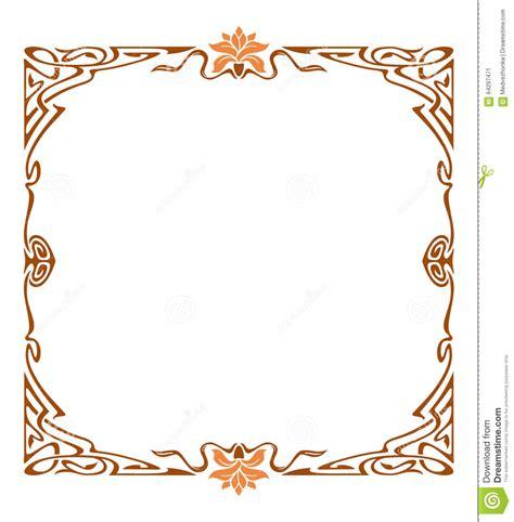 cornici liberty cornice di stile liberty illustrazione di stock immagine