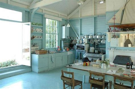 blue kitchen wallpaper uk spotted from the crow s nest beach house tour whistable beach
