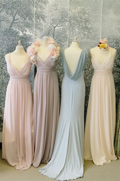 bridesmaid dress colors lovely light colors chiffon bridesmaid dresses different
