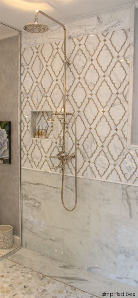Mosaic Shower Tile by Marble Mosaic Shower Woodside Decorator Show House