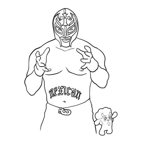 rey mysterio 619 colouring pages page 3