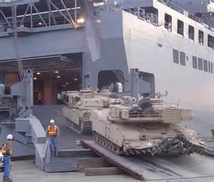 navy cargo ships load 3rd acr cargo in