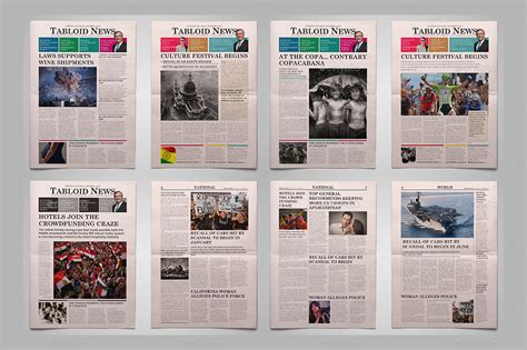 tutorial layout tabloid newspapers bundle by graphix shiv graphicriver