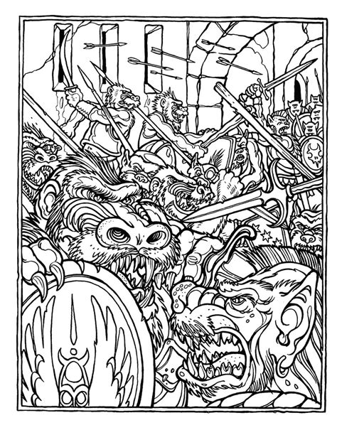 coloring book album artwork brains the official advanced dungeons and dragons