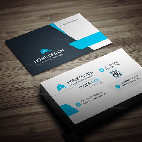 Business Card Template by Home Design Business Card Template 000258 Template Catalog