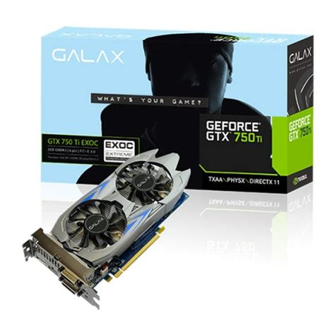 Harga Vga Nvidia Geforce Gtx 750 Ti by Galax Geforce Gtx 750 Ti Exoc 2gb 700 Series Graphics Card
