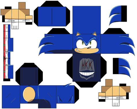 Papercraft Sonic - modern sonic by hollowkingking on deviantart