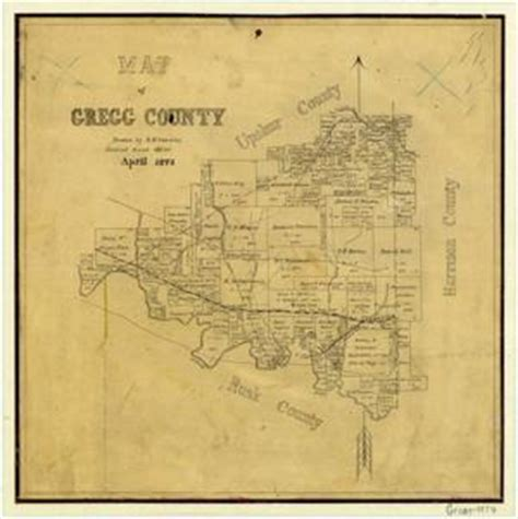 map of gregg county texas gregg county the portal to texas history