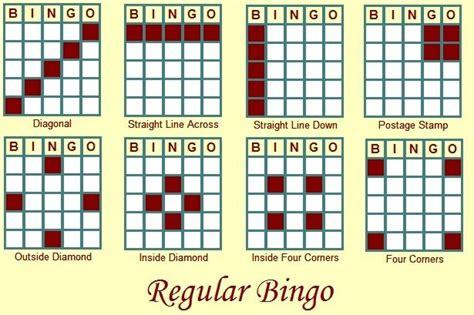 pattern rule games bingo patterns bingo patterns pinterest bingo