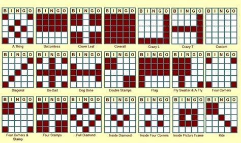 bingo pattern exles some bingo patterns bingo patterns pinterest bingo