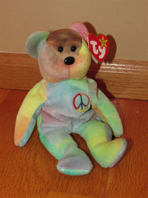 ty beanie baby very rare peace bear orig collectible with