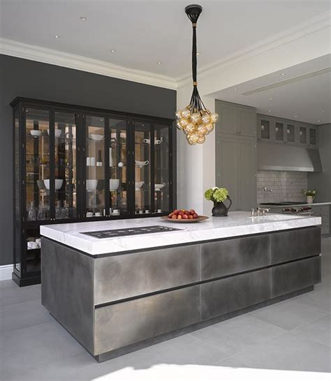 kitchen showrooms island roundhouse urbo bespoke patinated silver island with