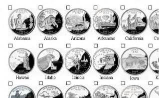 us quarter map printable collecting state quarters checklist click on image for