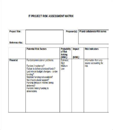 project risk assessment template commonpence co
