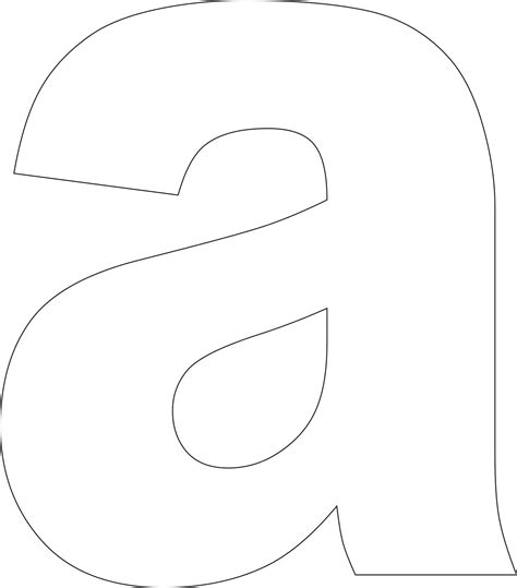 Free Printable Lower Case Alphabet Letter Template Letters Templates For Free