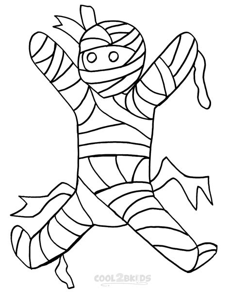 mummy coffin coloring pages