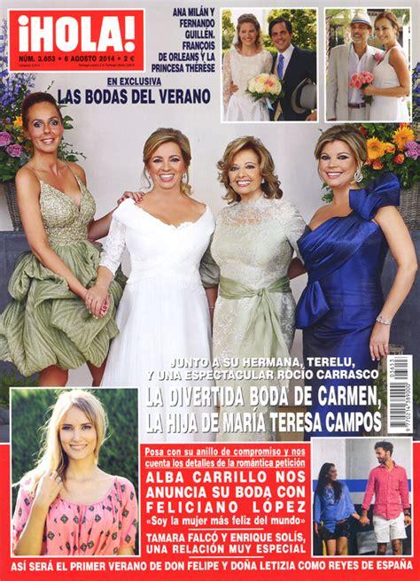 imagenes de hoy revista hola exclusiva en 161 hola las bodas del verano alba carrillo