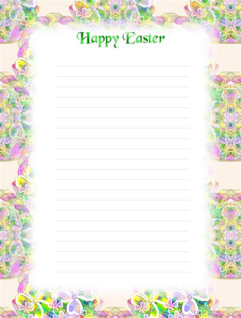 printable lined easter stationery free printable lined easter stationery holiday money