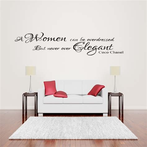 coco chanel wall quote sticker lounge