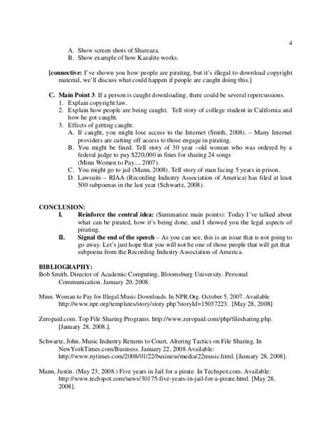 Sle Speech About And preparation outline speech sle speech outline template