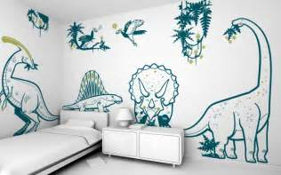 Childrens Large Wall Stickers Dinosaur Wall Decals For Kid S Playroom Or Bedroom Dino
