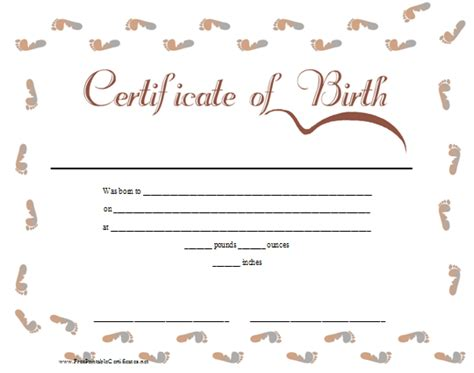 Free Birth Records Blank Element Birth Certificate Book Covers