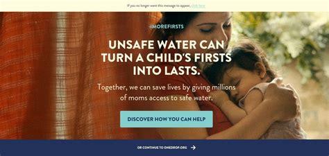 nonprofit web design inspiration one drop website has a great web design best web designs