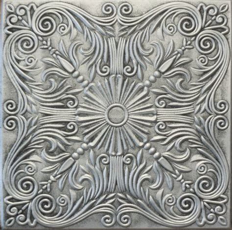 silver ceiling tiles r39as 20 x 20 antique silver tin looking finish texture