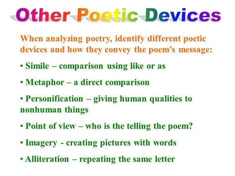 identify the poetic device used in this section of text poetry ppt video online download