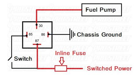 electric fuel relay wiring diagram wiring diagram