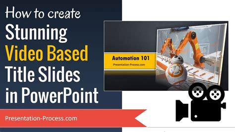 How To Create Stunning Video Title Slides In Powerpoint Cool Powerpoint Title Slides
