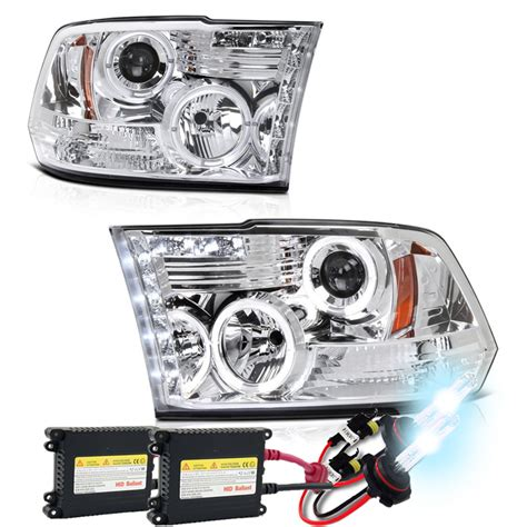 hid headlights dodge ram 2500 hid xenon 09 16 dodge ram 1500 2500 3500 ccfl halo