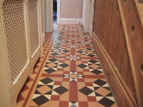 Traditional floor tiling techniques and period renovations