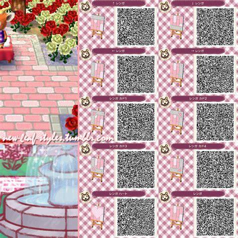 pink pattern acnl animal crossing new leaf hhd qr code paths new leaf