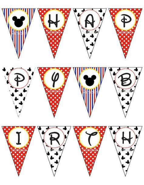 printable mickey mouse birthday banner pinterest discover and save creative ideas