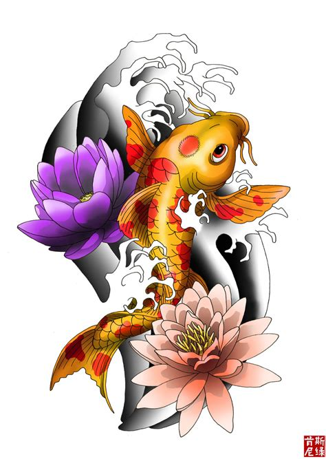 fish koi tattoo design black koi fish forearm newhairstylesformen2014